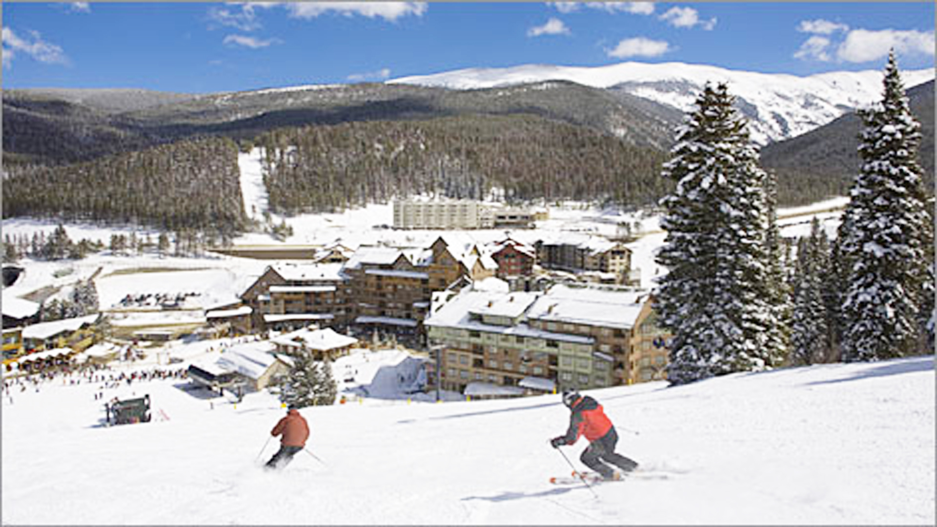 ski lodge in winter - photo #13